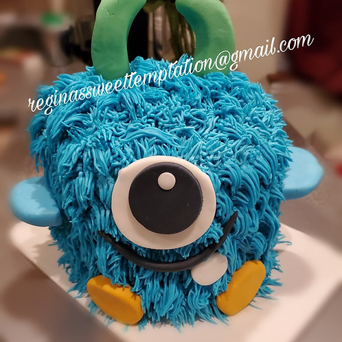 Monster cake and cupcakes