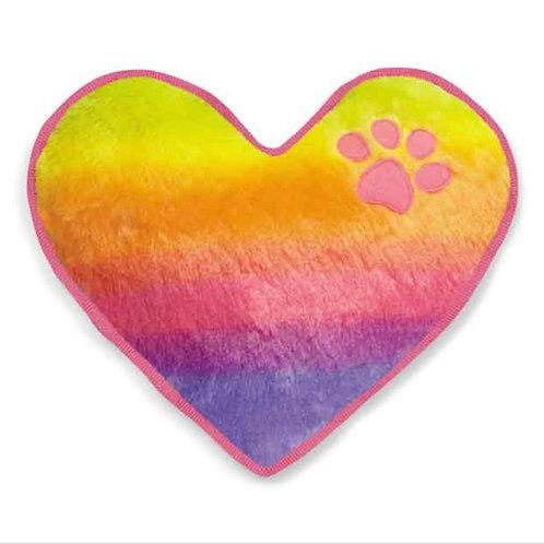 Plush Rainbow Heart