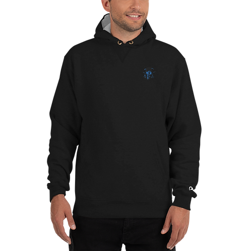 Graphwize Crystal Ball Blue Embroidered Champion Hoodie