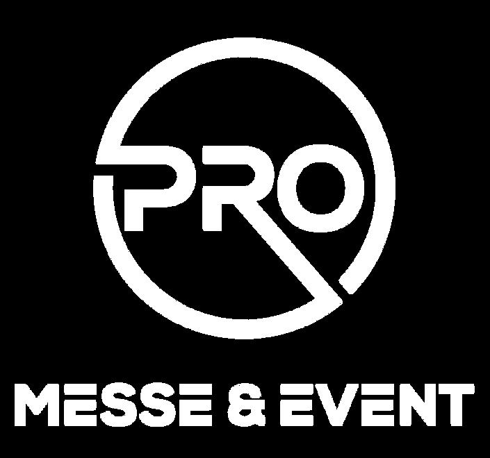 PRO Messe & Event Logo weiß