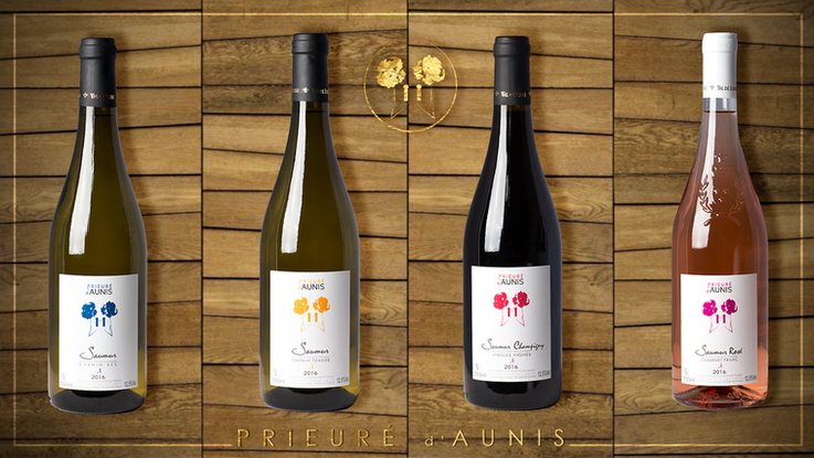 kreazim graphiste saumur nicolas pasquier saumur champigny vin de loire gamme le prieuré d'aunis aunis