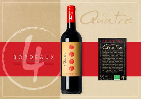 kreazim etiquette les quatre vignerons bordeaux