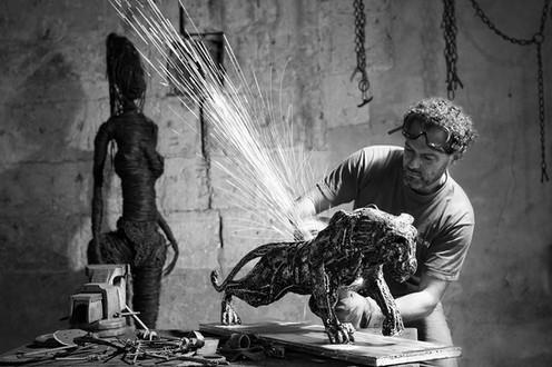 kreazim kazim dubovski photographe saumur matthieux rousseaux sculpteur art création les rosiers sur loire