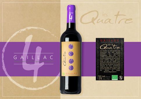 kreazim etiquette les quatre vignerons gaillac