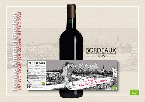 kreazim graphiste saumur les ballades de xavier et nicolas vignerons vin bordeaux vigneron bio