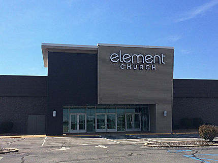 Element Church main entrance addition. DE|SL LLC