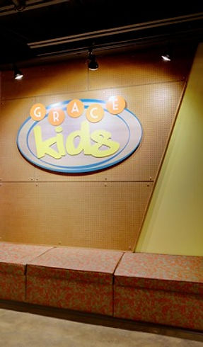 Grace Church STL GraceKids ministry with newly themed spaces focus on children and their parents. DE|SL LLC