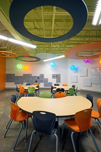 Grace Church STL children's room themed for interactive learning. DE|SL LLC