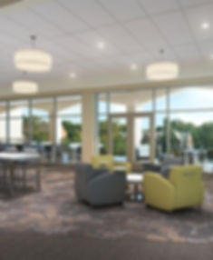 DE|SL Lindenwood University LARC Library community meeting and collaboration space. DE|SL LLC