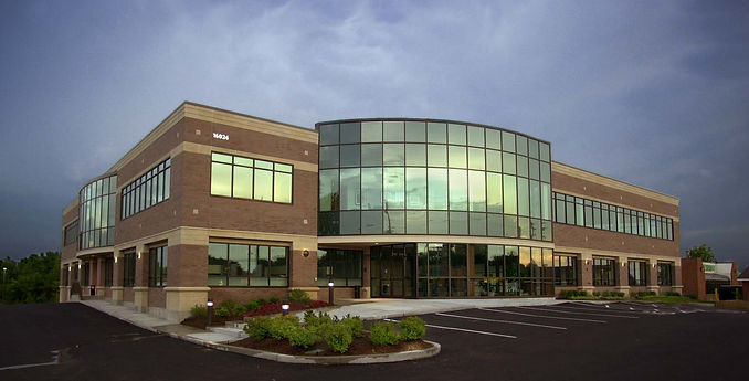 America West Office Park building is home to office, bank and flexible start-up space in West County St. Louis. DE|SL LLC