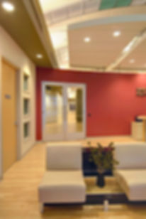 Corporate office interior design repurposed the former mall concourse into high-end attractive office space. DE|SL LLC