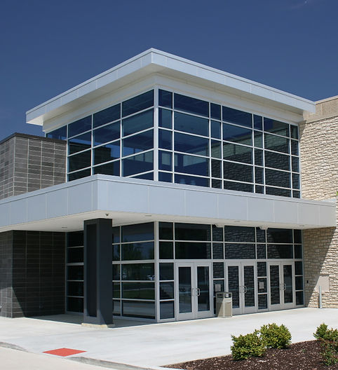 St. Dominic High School Gym & Performaing Arts Center main entrance. DE|SL LLC