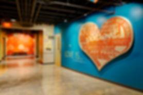 DE|SL LLC Grace Church St. Louis GraceKid's Biblically themed hallway. DE|SL LLC
