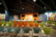Grace Church STL children's worship and multi-purpose assembly room. DE|SL LLC