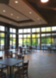 """New Covenant/Faith Church """"Cube"""" gathering and coffee cafe lounge space. DE
