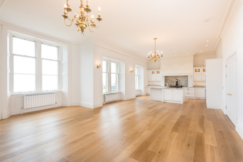 Large dining kitchen in luxury house
