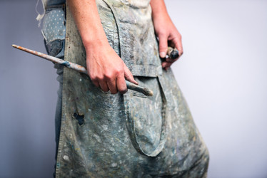 Painter's hands and apron