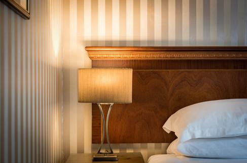 Bedside light in hotel