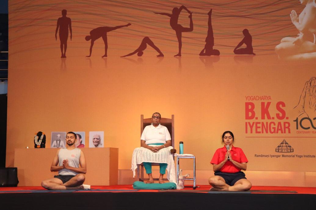 Iyengar Yoga Convention in Pune, Dec 2019. 100 years of BKS Iyengar.