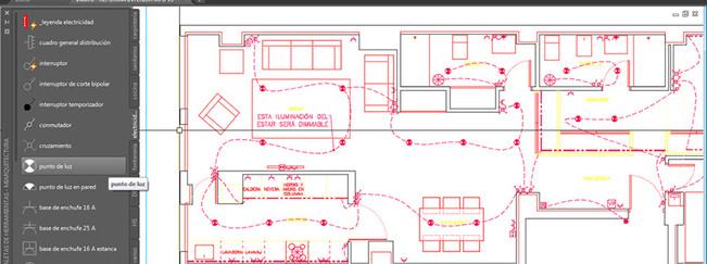Plano de electricidad en AutoCAD
