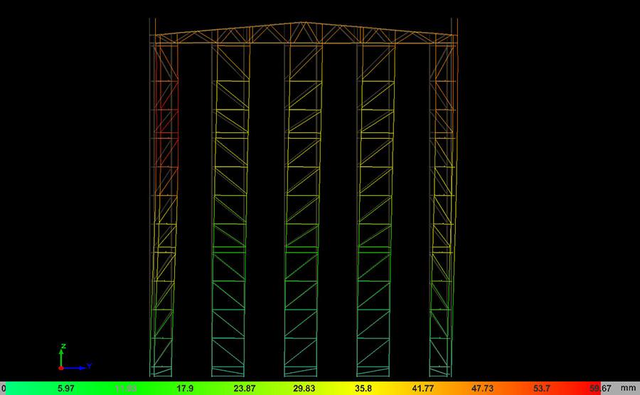 Imagen 06 de ejercicio de cálculo de estructura metálica