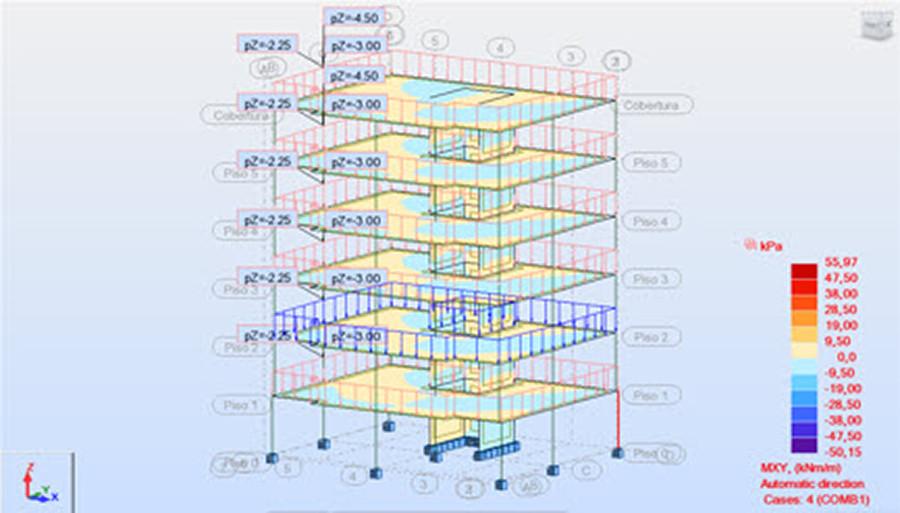Imagen 02 de ejercicio de cálculo de estructura metálica