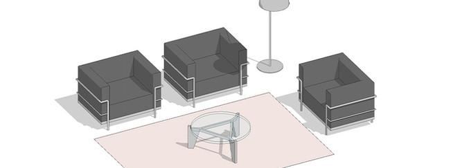Composición de mobiliario ejercicio Revit Familias