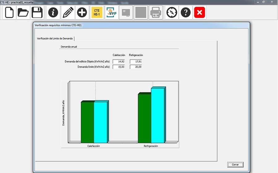 Imagen comparativa consumo-demanda energética vivienda HULC