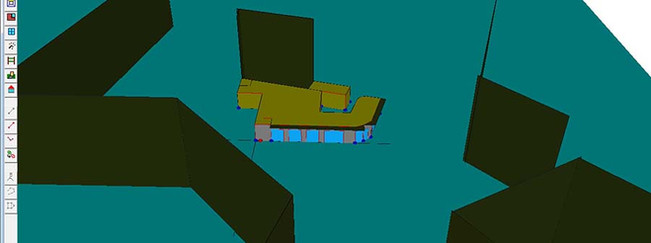 Imagen modelado viviend en HULC