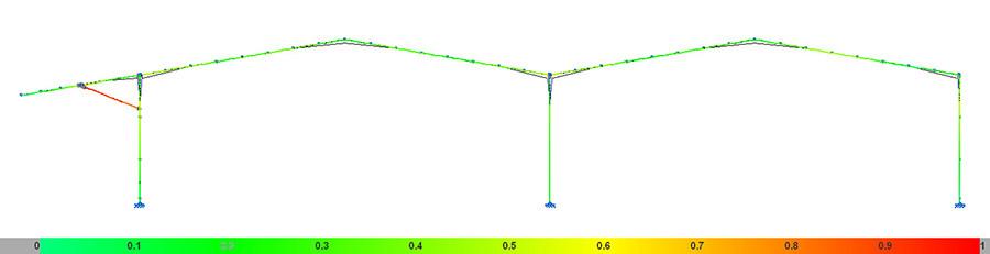 Imagen cálculo estructura metálica