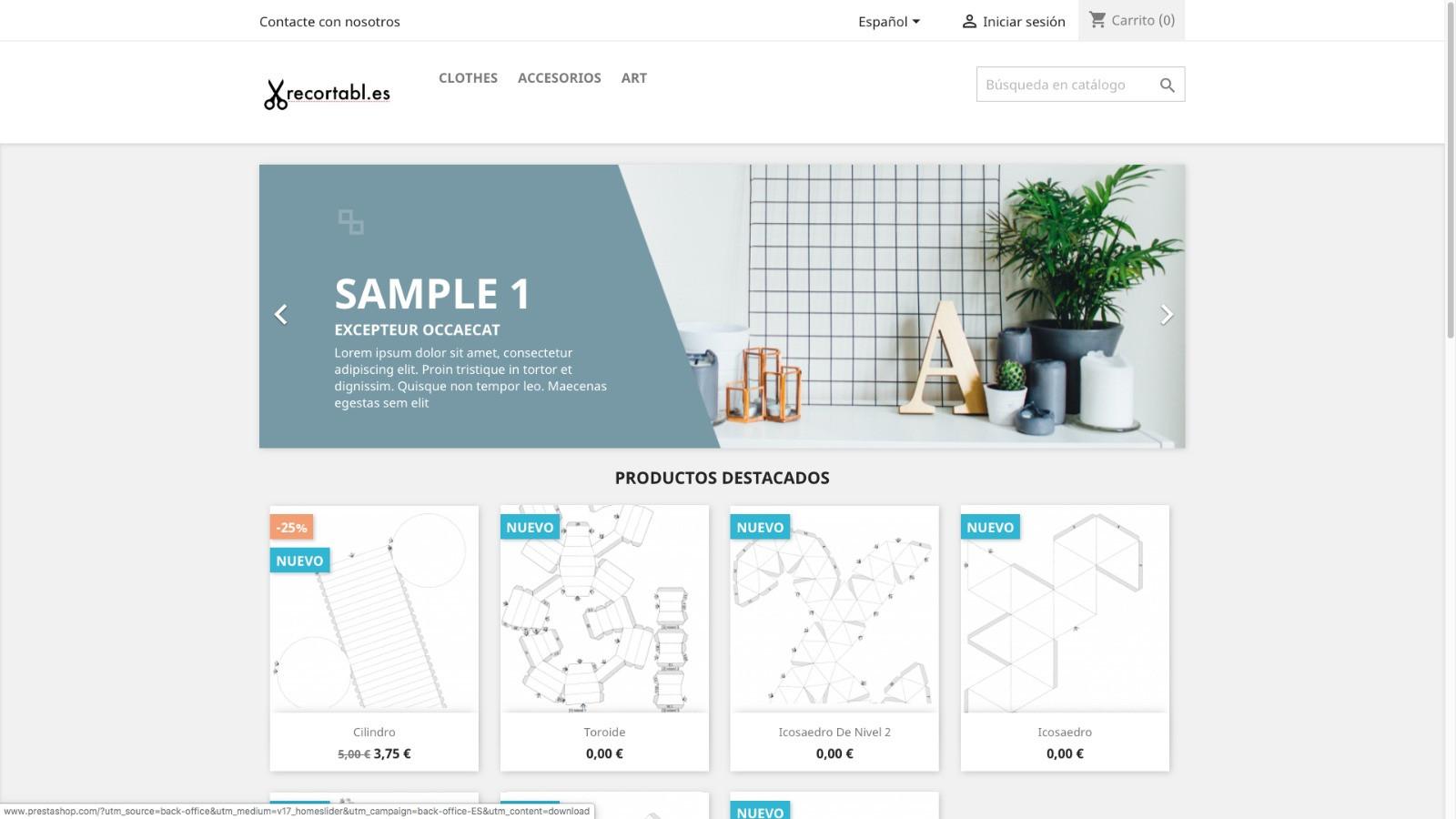 Imagen del curso de creación de tienda online con Prestashop