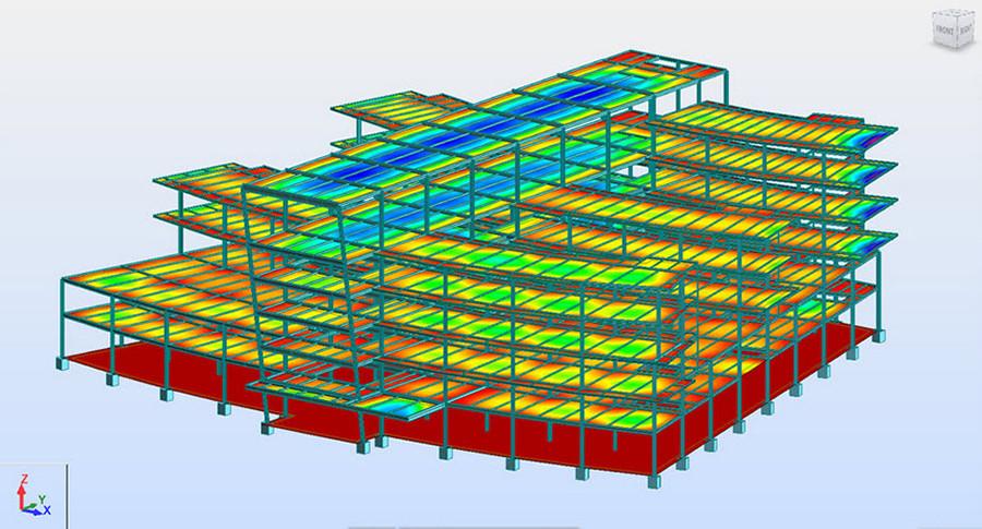 Imagen 03 de ejercicio de cálculo de estructura metálica