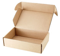close-up single carton box open empty is