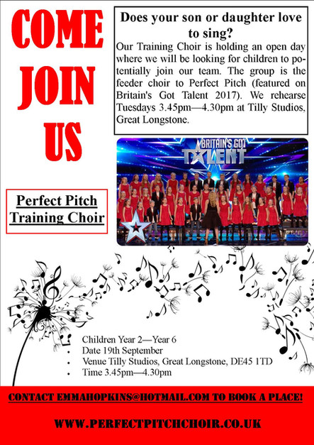 Come Join Our Training Choir
