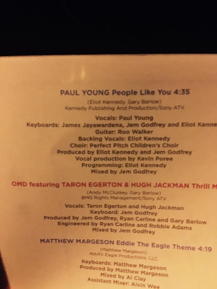 Eddie The Eagle Soundtrack