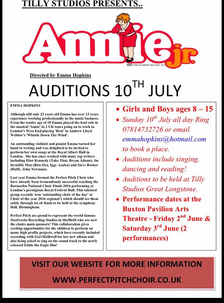 Annie Junior Auditions