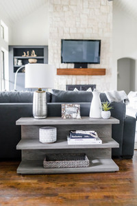 Shelf styling by Laura Design & Co, Dallas interior designer