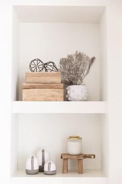Laura Design and Co, Dallas interior designer shelf styling
