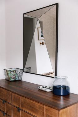 Kids dresser and black mirror design by Laura Design and Co, Dallas interior designer