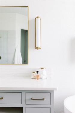Bathroom design with dolomite countertop