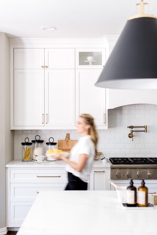 White kitchen design by Laura Design and Co, Dallas interior designer