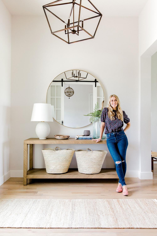 Entryway design by Laura Design and Co, Dallas interior design studio