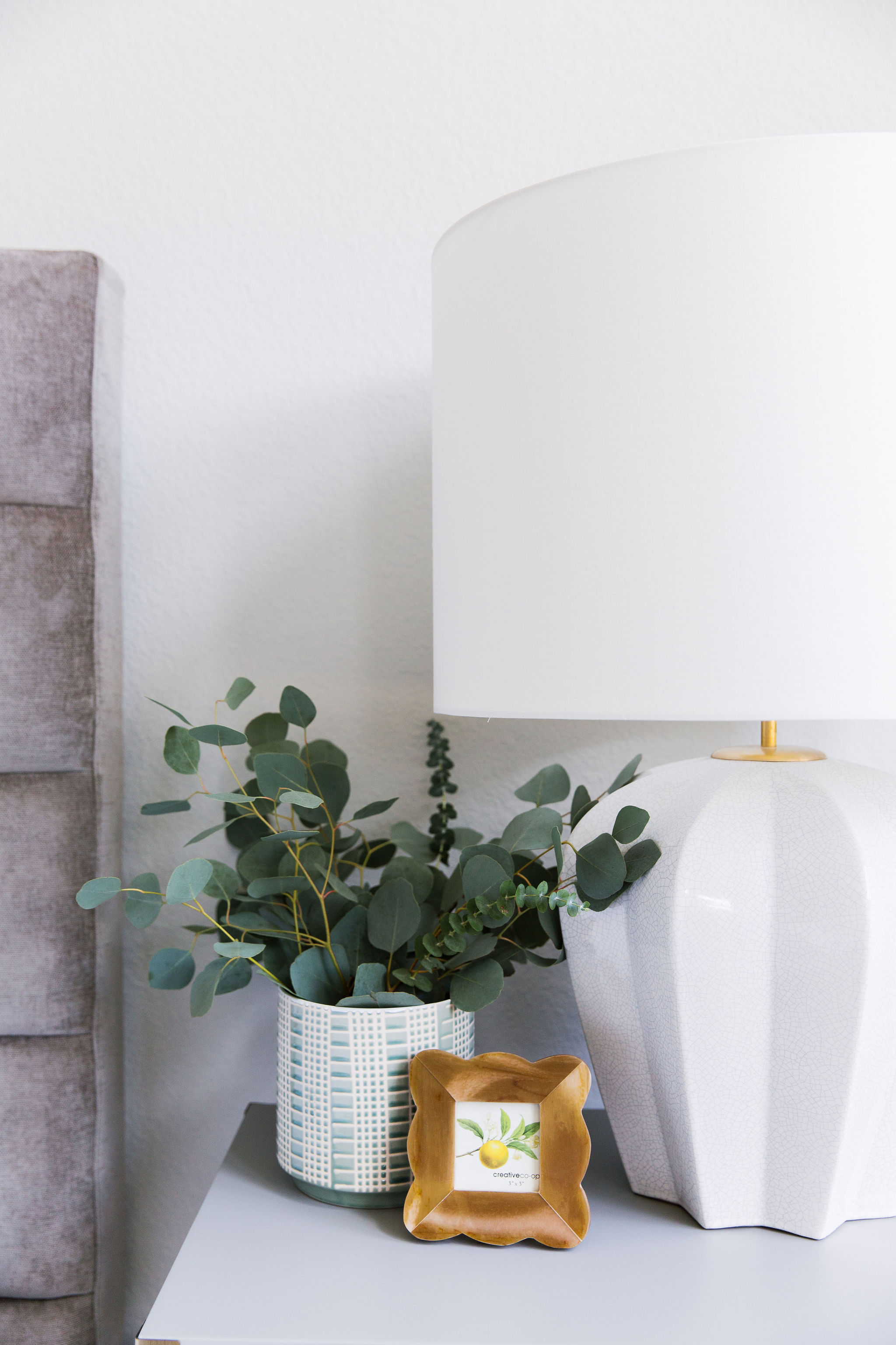 Nightstand design and styling by Laura D