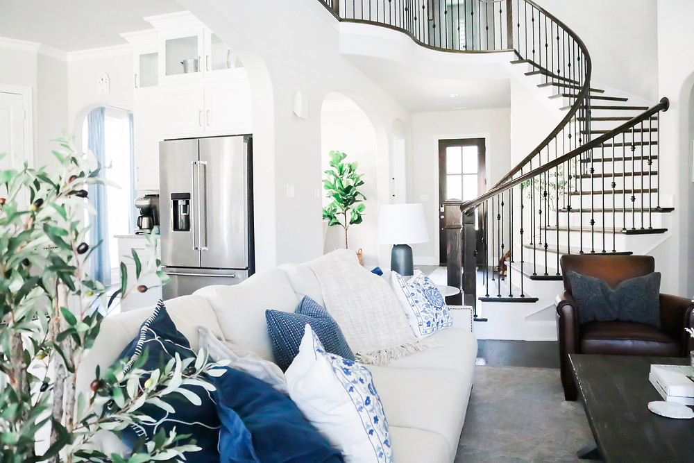Living room design by Laura Design and Co, Dallas based interior designer