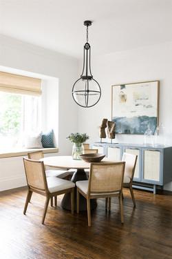 Breakfast nook design by Laura Design an