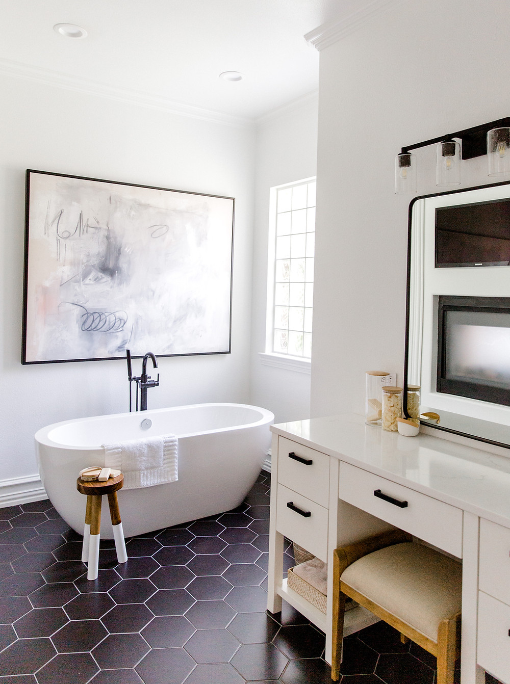 Bathroom design by Laura Design and Co, Dallas interior designer