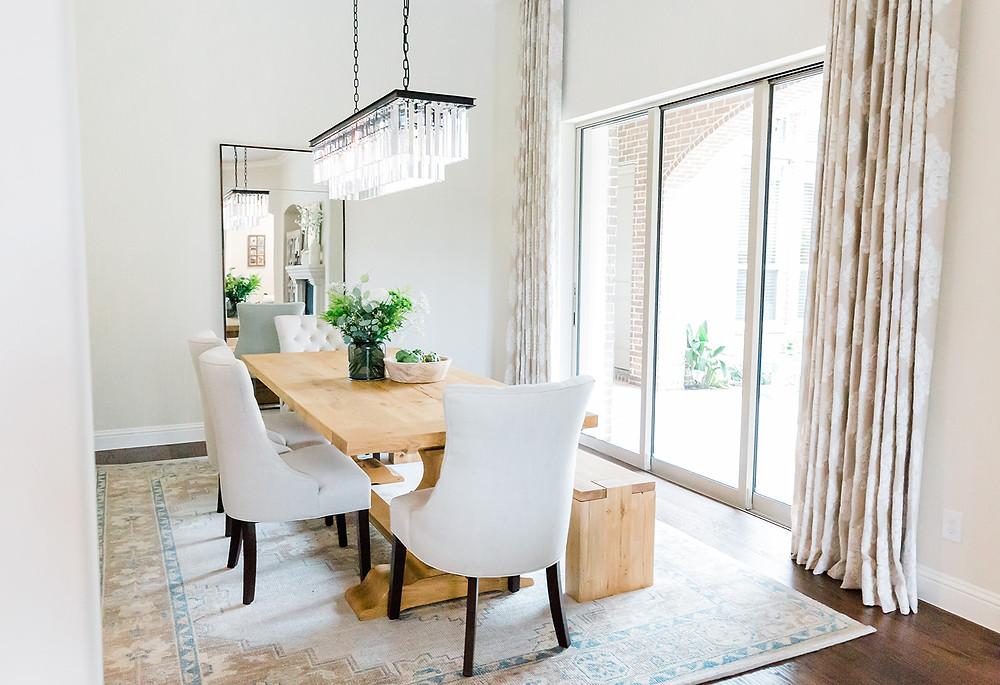 dining room design by laura design and co, Dallas based interior designer