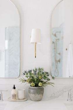 Bathroom design with polished nickel mir