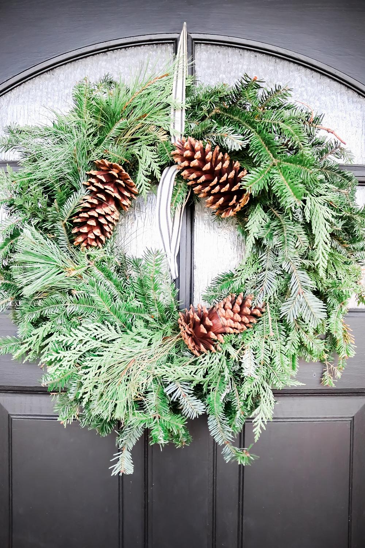 Christmas wreath, Laura Design and Co, Flower Mound based interior designer