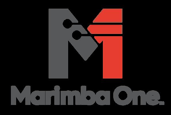 MarimbaOneLogo_ComboLG-ColorCharcoalRedPMS.png